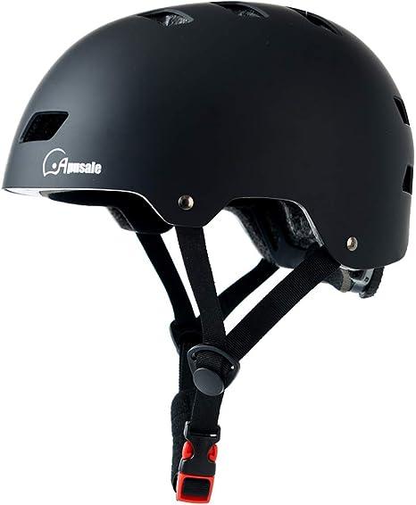 CPSC Certified Adjustable Skateboard Helmet 3 Sizes for Bicycle Cycling Skateboarding Scooter Inline Skating YUHAGU Kids Adults Bike Helmet for Toddler Youth Men Women