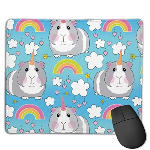 Guinea Pig Unicorns-and-Rainbows Personalized Rectangle Non-Slip Rubber Mousepad Gaming Mouse Pad New -