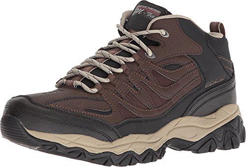 Skechers Burn Memory Fit - Geardo Brown/Black Mens Boot Size 12W