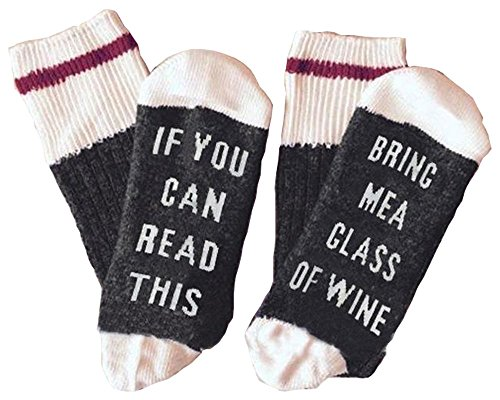Valentine's Day Gift for her socks if you see this bring me a glass of wine