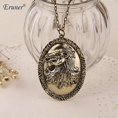 Eruner?Game of Thrones Necklace Song of Ice and Fire Cersei Lannister Hourse Vintage Lion Badge Pendant Wholesale ()
