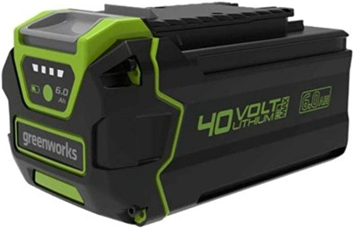 Greenworks 40v Battery 2nd Generation G40b6 Li Ion 40v 6ah Rechargeable Powerful Battery Suitable For All Devices In The 40v Greenworks Series Baumarkt