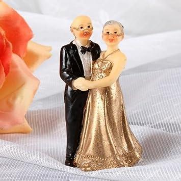 Udo Schmidt Kleine Deko Figur Zur Goldenen Hochzeit 7cm Amazon De