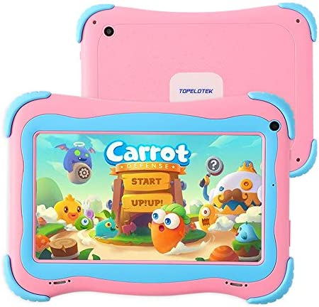 Tablet for Kids,7 Kids Tablet Android 1GB +16 GB Kids Edition Tablet,Dual Cameras IPS Eye Protection,Pre Installed Learning Apps,Games with Kids-Proof Case Toddler Tablet,3500mah Long Lasting battery