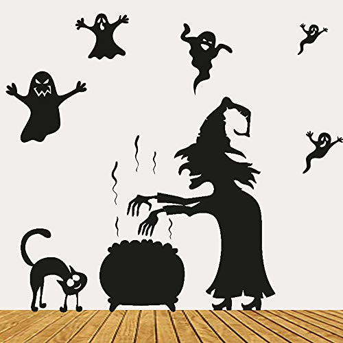 Cheap  Promisen Happy Halloween Wall Sticker, Cute Ghosts Party Mural Decor Decoration Wall..