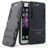 Huawei Honor 9 Case, Huawei Honor 9 Premium Case, CoverON [Shadow Armor Series] Hard Slim Hybrid Kickstand Phone Cover Case for Huawei Honor 9 / Honor 9 Premium - Navy / Black