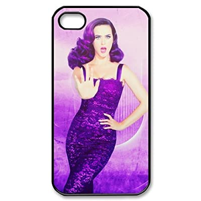 Custom Katy Perry Hard Back Cover Case for iPhone 4 4S CY436