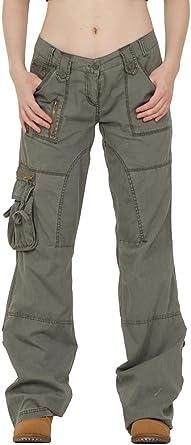 Femme Pantalon Treillis Cargo Léger Coupe