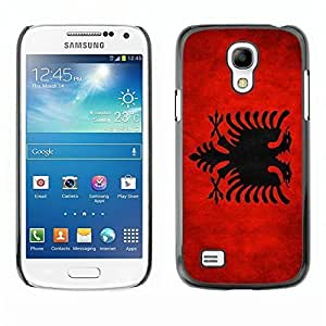 Shell-Star ( National Flag Series-Albania ) Snap On Hard Protective Case For Samsung Galaxy S4 MINI / i9190 / i9192 by heywan
