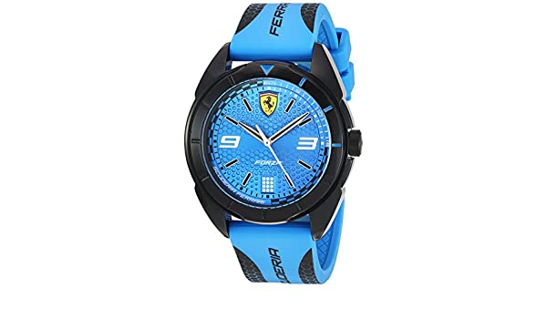 Amazon.com: Ferrari Mens 0830518 Forza Analog Display Quartz Blue Watch: Watches