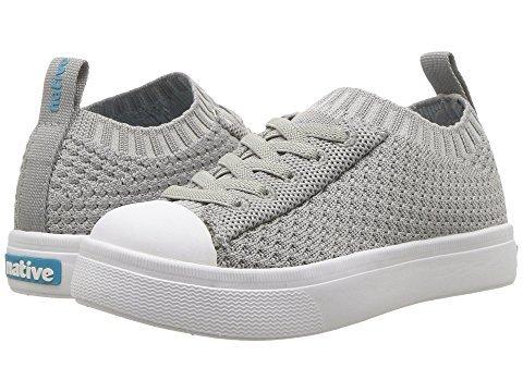 Native Kids Shoes Unisex Jefferson 2.0 Liteknit (Toddler/Little Kid) Pigeon Grey/Shell White 12 M US Little Kid