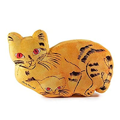 Kidrobot Andy Warhol Plush Cat Pillow (Yellow): Toys & Games