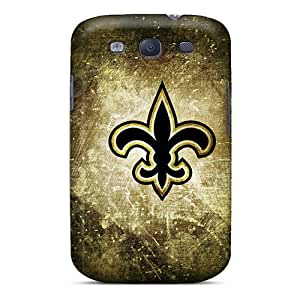 InesWeldon Samsung Galaxy S3 Shockproof Phone Cover Support Personal Customs Fashion New Orleans Saints Pattern [hnq14790yeAT]