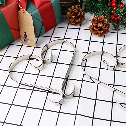 3 otters Christmas Stocking Hanger Set, 4PCS Stocking Holders Christmas Stocking Garland Hooks