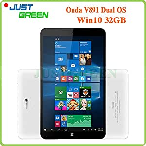 "ARBUYSHOP original Onda V891 Z3735F Quad Core 1.3GHz 8.9 ""1280x800 32GB ROM IPS 2GB RAM 2MP HDMI OTG Bluetooth Win10 Android 4.4 Tablet PC, Añadir 32GB TF Card"