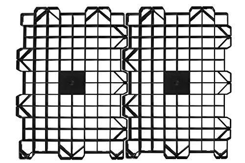 Attic Storage - Attic Dek Flooring, Walking Deck Boards for Attic, Easy Installation Floor System for Garage, Roof and More, Instant Organizer, New 4 Panel Pack - Black