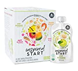 Early Allergen Introduction Baby Food: Inspired Start Pack 2, 3 oz. (Pack of 8 baby food pouches) - Non-GMO, include wheat, sesame, shrimp and cod in baby's diet
