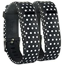 HopCentury New Style Replacement Fitbit Flex Wrist Band with Buckle for Fit bit Flex Tracker - Dot Pattern