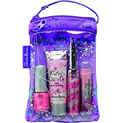Smackers Glam It Up Lip, Nail and Face Collection in Cosmetics Bag Set, 4 Count