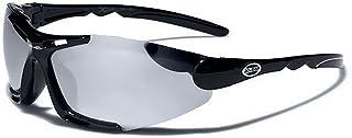 Occhiali da Sole X-Loop Sport - Ciclismo - MTB - Sci - Running - Moto - Protezione/Blade Nero Argento Specchio Xloop