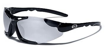 X-Loop Lunettes de Soleil - Sport - Cyclisme - Ski - Vtt - Running - Trail - Moto - Tennis / Mod Blade Noir Bleu Vert Iridium Miroir 2YY5kQ