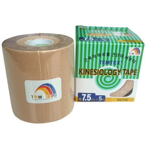 Temtex - Kinesiology tape 7,5x5 1 ud, talla 7,5 cm x 5 m, color beige TOWATEK