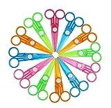 36pcs Assorted Color Plastic Preschool Training Scissors Art DIY Craft Paper Cutting Stationery for Kids