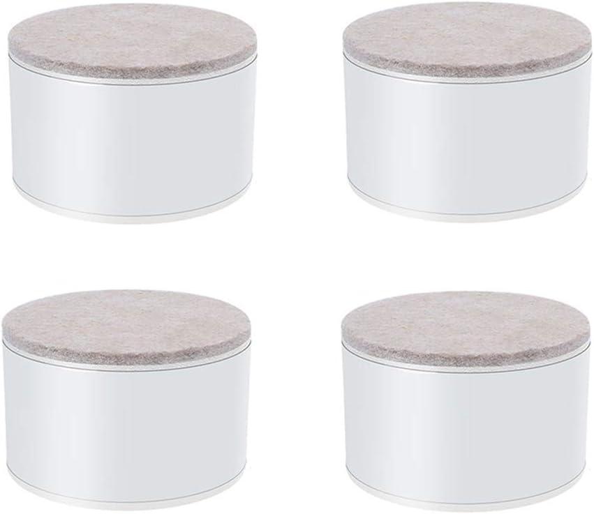Fdit1 4 UNIDS Durable Cama Apilable Elevadores Cuadrados Negros 2Patas de Muebles Pies de Piso Protectores Levantadores para Sof/á Mesa y Silla