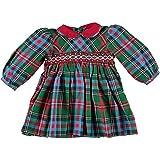 Baby Girls's Smocked Holiday Plaid Long Sleeve Dress (24M)