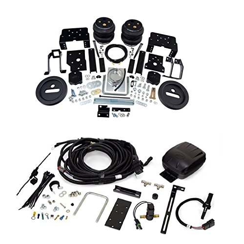 Air Lift 57596 25490 Rear Set of Load Lifter 7500XL Series Air Springs with Smart Air II Single Path Automatic Self Leveling System Bundle for Ford F-250 F-350