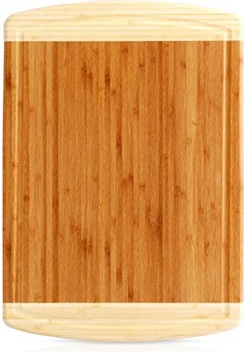 Bamboo Cutting Board Large Bamboo Cutting Board for Chicken and Meat and Vegetables by Utopia Kitchen