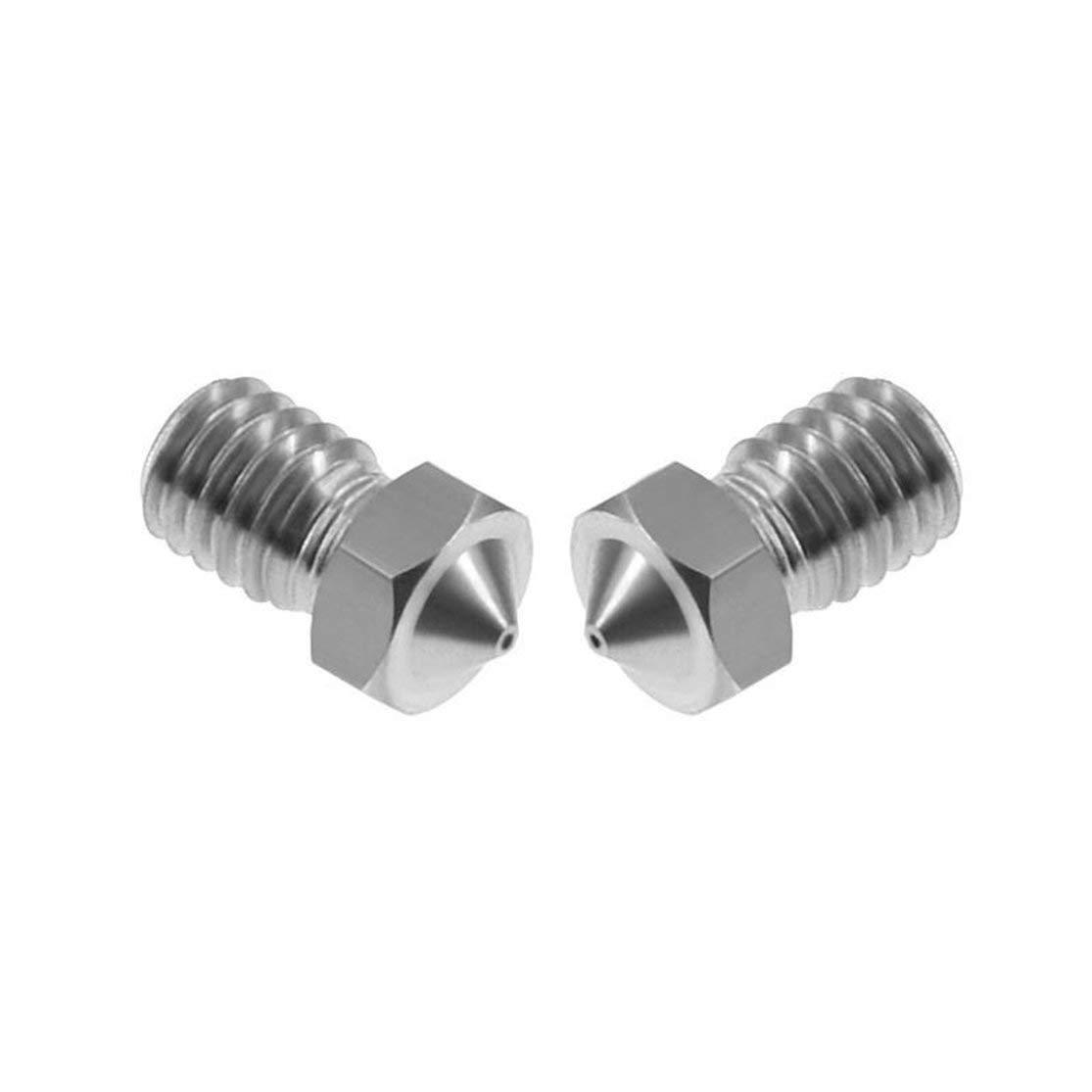 Lot E3D M6 Boquillas V5 V6 Boquilla de Metal 0.2//0.25//0.3//0.4//0.5//0.6//0.8//1.0mm para Piezas de Impresora 3D Filamnet 3D de 1.75 mm 3 mm LouiseEvel215 10Pcs