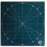 Atom Self Healing Rotating Cutting Mat, Perfect for Art and Craft or Quilting, 360° Rotating, 12'' x 12'' and a Clear File