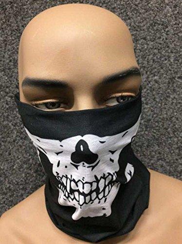 Scaldacollo maschera, teschio, da moto
