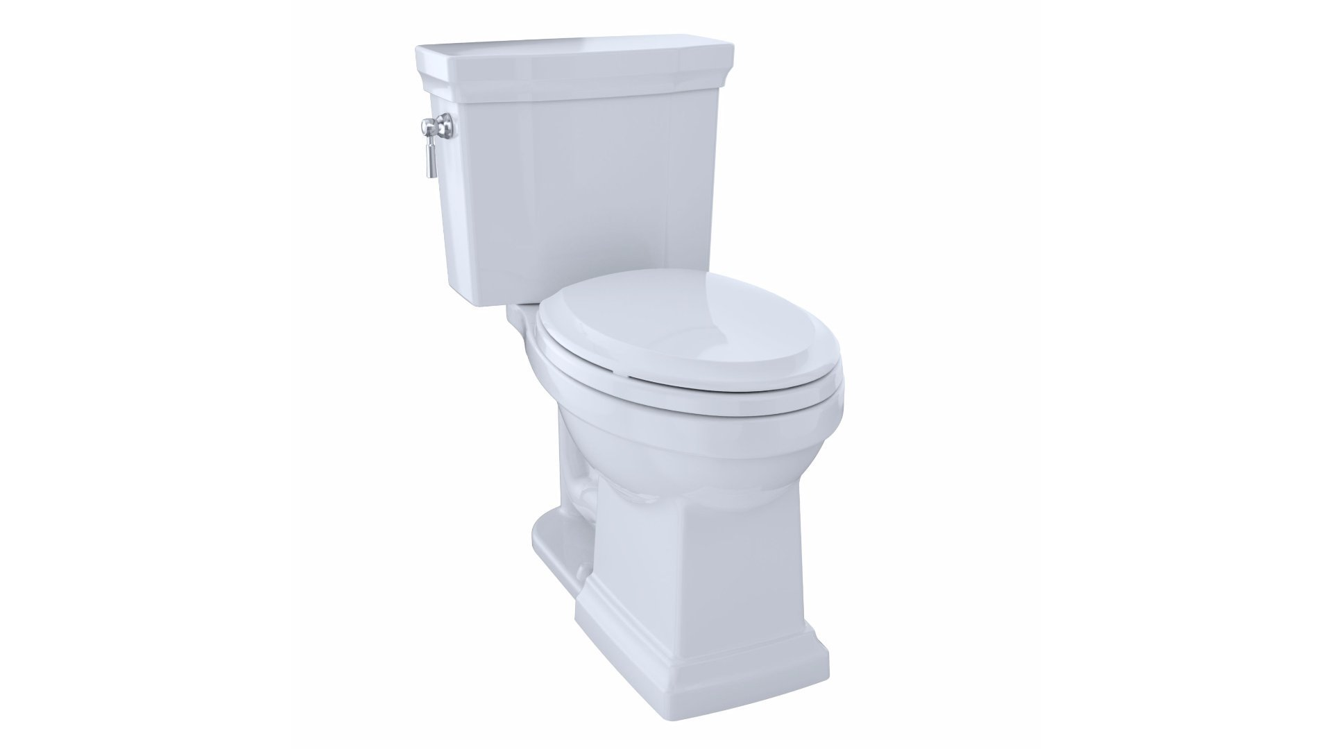 TOTO CST404CEFG#01 Promenade II Two-Piece Elongated 1.28 GPF Universal Height Toilet with CeFiONtect, Cotton by TOTO