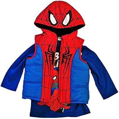 Marvel 2-Piece Boys,Toddler Spiderman Hoodie Jacket and Spiderman Shirt
