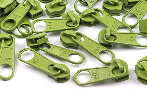 1,08€// 6m Endlos-Reißverschluss 5mm mit 15 Zippern und Endstücke 273 dunkelgrün