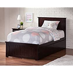 Twin XL Bed with Matching Footboard in Espresso