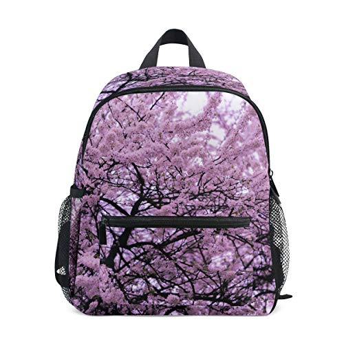 Dragon Sword Cute Beautiful Pink Cherry Blossom Small Preschool Backpacks,Lightweight school bag for 3-8 Age kids ()