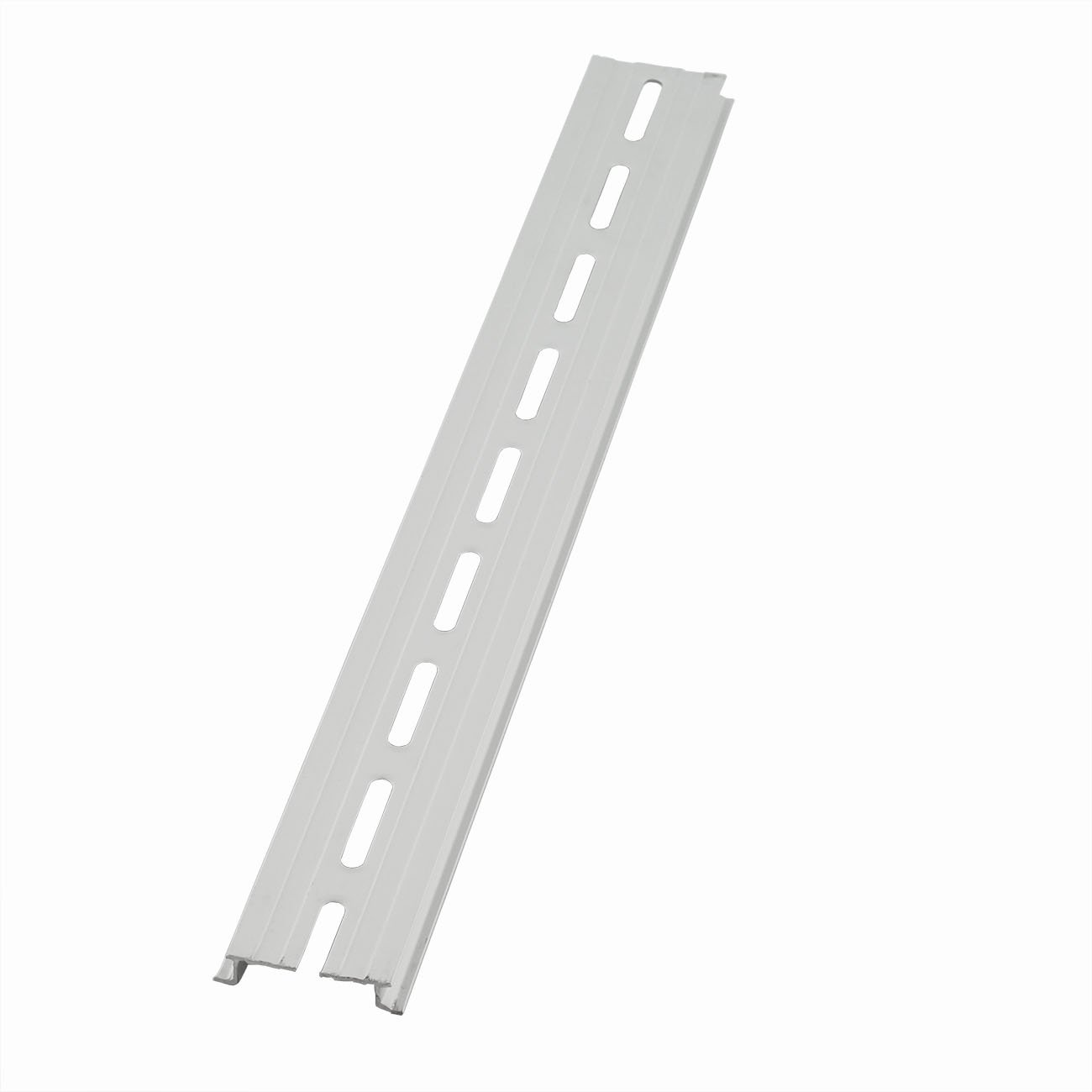 for Single Phase Switch Installing Fixed Solid State Relay PZRT 2-Pack Aluminum 1.1mm Thickness Slotted DIN Rail,200mm 7.8 Length 35mm Standard Width