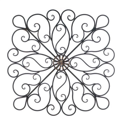 Wrought Iron 36-inch Scrolled Wall -