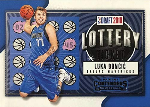 1015b860a4ad 2018-19 Panini Contenders - Luka Doncic - LOTTERY TICKET Parallel - Dallas  Mavericks Basketball Rookie Card - RC Card  3