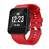 For Garmin Forerunner 35,Replacement Wrist strap Silicagel Soft Band Strap (Red)