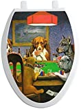 RNK Shops Dogs Playing Poker by C.M.Coolidge Toilet Seat Decal - Elongated