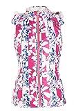 SunviewGolf svg Women's Hooded Reversible Golf Down Vest Floral Print Casual Vest Jacket XS