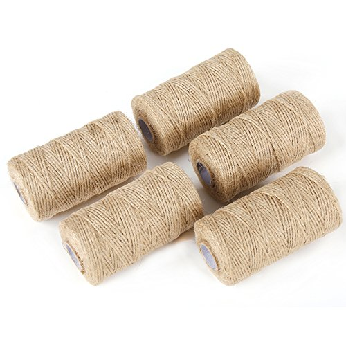 Best Arts Crafts Gift Twine Christmas Twine Industrial Packing Materials Durable String for Gardening Applications 3pcsX300feet Akusety 900 Feet 2mm Natural Jute Twine String