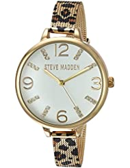 Steve Madden Womens Quartz Gold-Tone and Alloy Casual WatchMulti Color (Model: SMW042G)