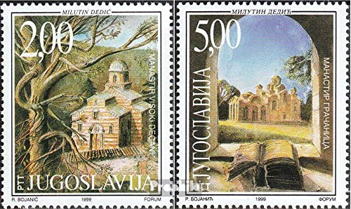 Yugoslavia 2898-2899 (Complete Issue) 1999 Monastery in Serbia (Stamps for Collectors) Christianity