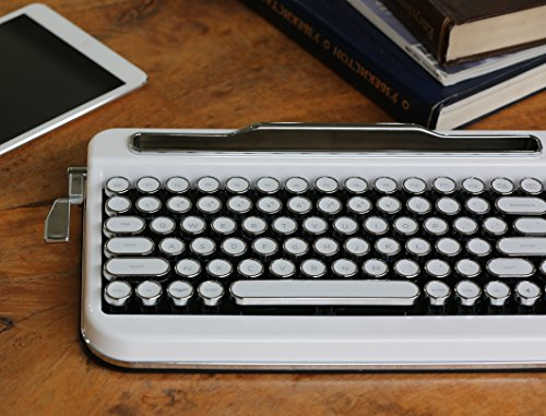 Amazon.com: Penna Bluetooth Keyboard with White Chrome Keycap(US Language) (Switch-Cherry Mx Blue, Pure White): Computers & Accessories