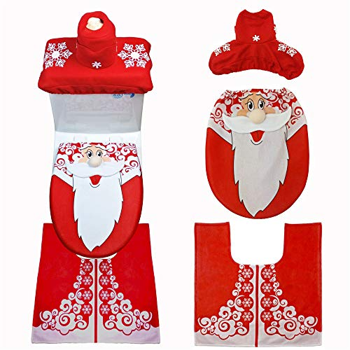 New Christmas Decoration Christmas Snowman Lid Single Toilet Cover ()